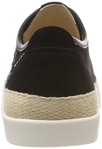 Cordones Mujer Derby 4 23600 Black Negro Zapatos Suede Caprice para de AInt7IYU