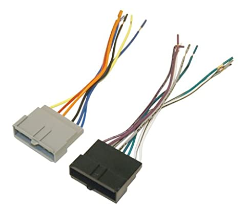 Scosche FD02B Wire Harness to Connect An Aftermarket Stereo Receiver for Select 1986-2004 Ford (2004 Ford F150 Speaker Harness)