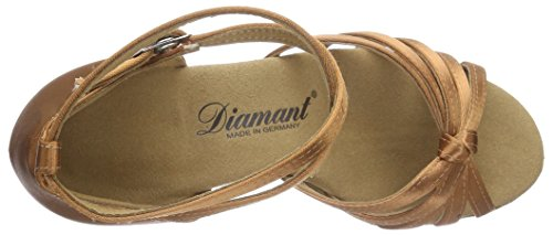 Diamant Donna 109-087-379, Raso Marrone Chiaro, Tacco Latino 2 1/2 (6,5 Cm) Color Marrone Scuro