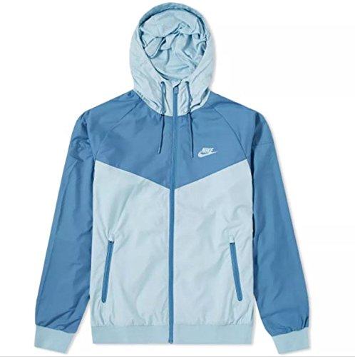 (Nike Men's Sportswear Windrunner Jacket (Ocean Bliss/Aegean Storm, XX-Large))