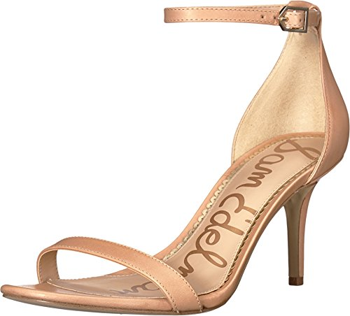 Sam Edelman Women's Patti Strappy Sandal Heel Buff Nude Vaquero Saddle Leather 9 M US ()