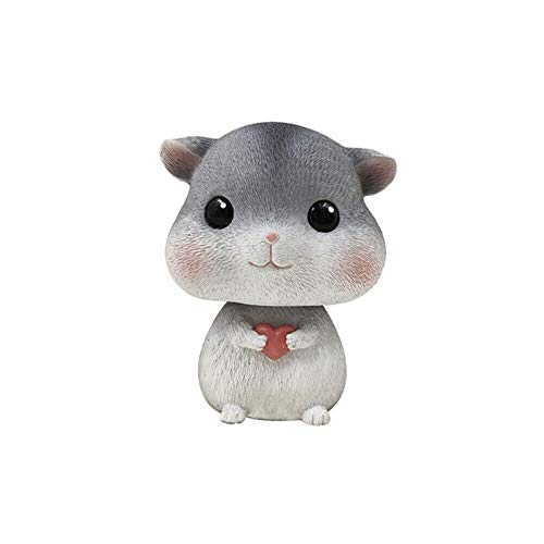 TUSFTAY Car Interior Display Decoration Car Ornament Car Home Decor Gift Home Deor Accents Collectible Figurines Collectible Toys Statues (A-Hamster)