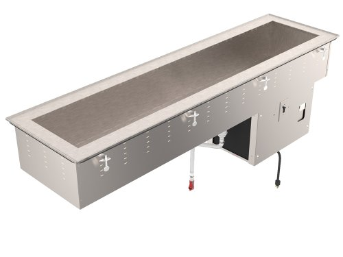 Vollrath 36655 Drop-In Three Pan Short Sided Cold Well (8 inch Deep Well)