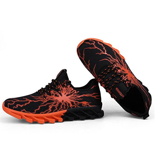 Shoes Mens 7 Running Sneakers Walking Shoe orange Mesh Blade Breathable Outdoor Sports EqnvAqOr