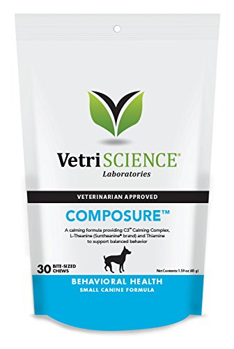 VetriScience Laboratories - Composure Mini for Small Breeds, Calming Support Formula for Dogs, 30 Bite-Sized Chews