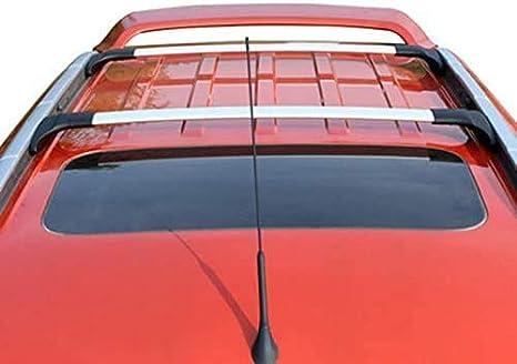 Udp 2 Silberne Verstellbare Querstangen Dachreling Gepäckträger Dachträger Passend Für Ford Ecosport 2013 2020 Auto