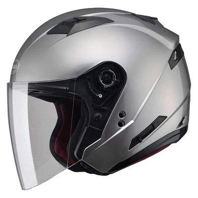 (GMAX OF77 Mens Open Face Street Motorcycle Helmet - Titanium Medium )
