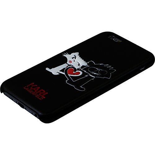 Karl Lagerfeld Choupette in Love Coque pour Apple iPhone 6/6s, Noir