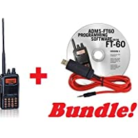 Yaesu FT-60R Handheld & Yaesu ADMS-1J Programming Cable and Software Bundle