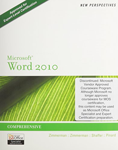 Bundle: New Perspectives on Microsoft Word 2010: Comprehensive + SAM 2010 Assessment, Training, and Projects v2.0 Printe