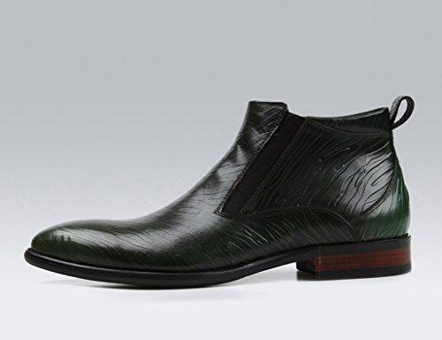 Herren Lederschuhe High-Top-Schuhe Herren Lederschuhe Martin Stiefel wies kurze Stiefel Herrenschuhe ( Farbe : Red-brown , größe : EU40/UK6.5 ) Grün