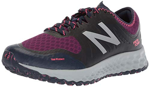 Cheap New Balance Women's Kaymin V1 Fresh Foam Trail Running Shoe, Claret/Pigment/Pink zing, 8.5 B US