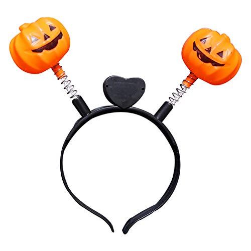 Outgeek Halloween/Thanksgiving/Fall Headbands Pumpkin Pattern Festival LED Headbands Kids Adults -