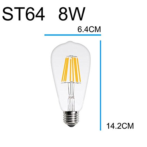 Amazon.com: 4 PCS LED Filament Edison Bulb 2W 4W 6W 8W 12W Antique Retro LED Candle Lights Chandelier Ampoule Lamparas Lampadina: Home & Kitchen
