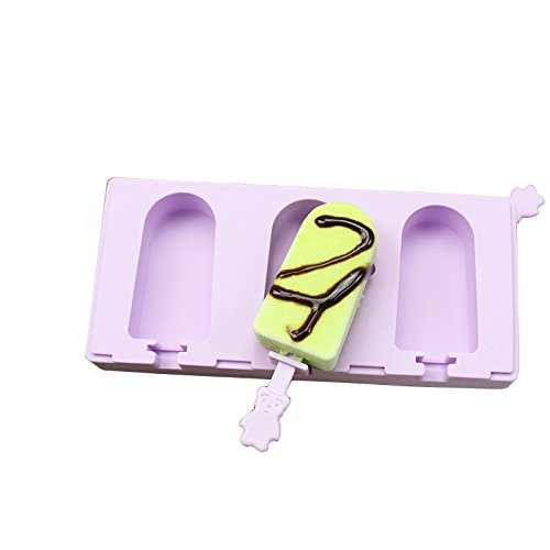 Zehui Silicone Popsicle Molds Cute Ice Pop Mold with Lid and Sticks DIY Ice Cream Bar Mould Maker for Childen