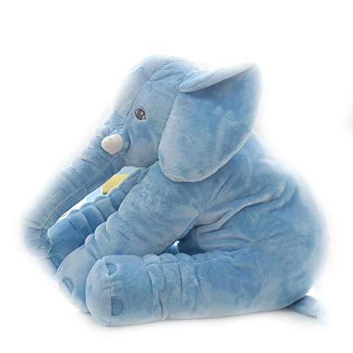 ZQQXV 1pc 40/60cm Cartoon Big Size Plush Elephant Toy Kids Sleeping Back Cushion Stuffed Pillow for Birthday Gift