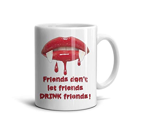 (GholoMez 1 Pack Home Halloween Zombie red Lips Blood 11 Ounces/350ML Coffee Mugs Home Cute Funny Special Day Gift Tea Mug Drink Cup for)