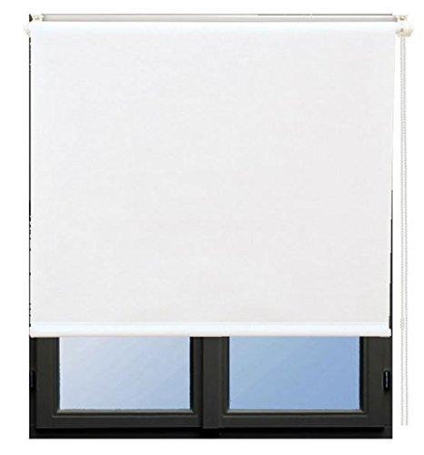 Amazonde Kettenzugrollo Seitenzugrollo Fensterrollo Rollo Weiss Breite 60 200 Cm Lange 180