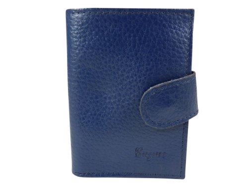 Kreditkartenhalter auch geeignet für Visitenkarten mit Taschen laminiert 24CB Leder Blau - Blau efXqdWgRxc