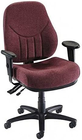 Lorell High-Back Multi-Task Chair, 26-7 8 by 26 by 39-Inch to 42-1 2-Inch, Burgundy