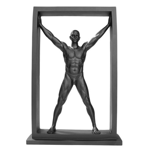 Boxed In Modern Male Nude Standing Figurine WU75781