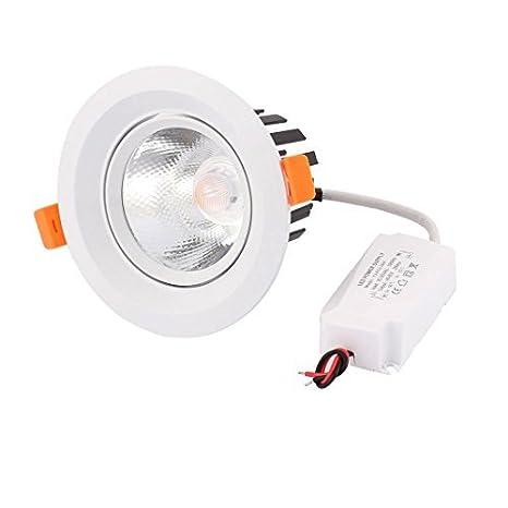 eDealMax AC85-265 15W COB LED proyector del techo de la lámpara empotrada empotrada 1250lm blanco cálido - - Amazon.com