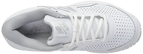 New Balance Women's WC696V3 Hard Court Tennis Shoe White/Silver with credit card online tUeLRhsX