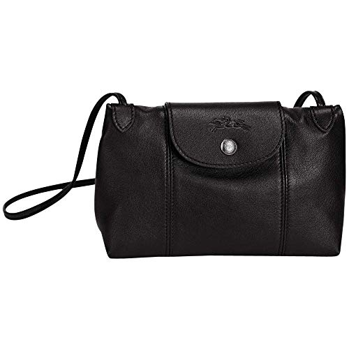 Longchamp Cross Body - Longchamp Le Pliage Cuir Small Crossbody Leather Shoulder Bag, Black