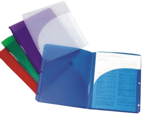 Two Pocket ''Snap IN'' Folders - 5 pack - 9'' x 11'' 12 pcs sku# 1301529MA by DDI