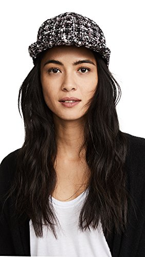 Eugenia Kim Women's Darien Flat Brim Baseball Cap, Black/Pastel, One Size by Eugenia Kim