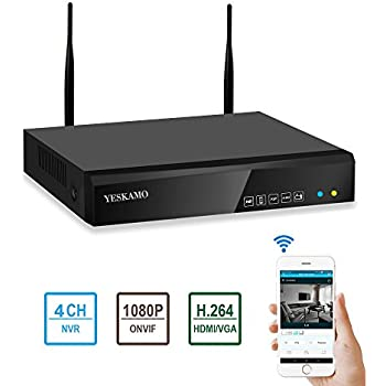 Amazon Com Yeskamo 4 Channel 1080p Full Hd Network Video