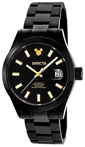 Invicta Men's 'Disney Limited Edition' Automatic Stainless Steel Casual Watch, Color:Black (Model: 24970) -  886678301942