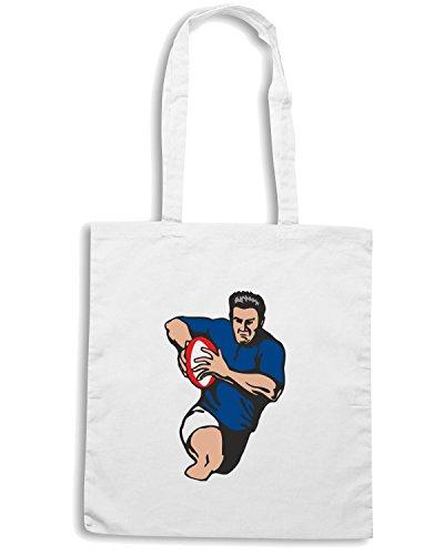 T-Shirtshock - Bolsa para la compra TRUG0032 italy rugby Blanco