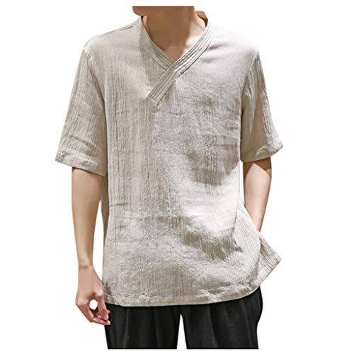 (IHGTZS T-Shirts for Men, Independence Day Arbor Day Carnival Day Summer Elements of The Stars and Stripes Summer Men's Cool and Thin Breathable Collar Hanging Dyed Gradient Cotton Gray )