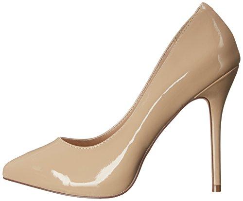 Tacón Pleaser Mujer Punta Pat Zapatos Amuse Beige cremefarben 20 Para Con Cerrada De cream zIqIrgF