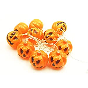 BEIERMU Pumpkin LED String Lights, String Lights Battery Operated LED, DIY Decoration for Halloween/Theme Parties/Carnival/ Festival/Celebration and Other Special Occasion