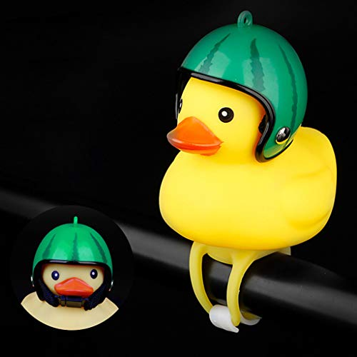 Sodoop Bicycle Bell Light, Cartoon Duck Head Light,Shining Duck Bicycle Handlebar Bells Accessories, Cute Kids Bike Horn,Bicycle Lights Bell Squeeze Horns for Toddler Children Adults Cycling (I)
