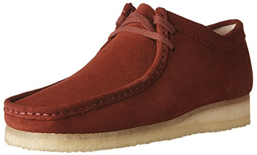 (CLARKS Men's Wallabee Red Suede Oxford)