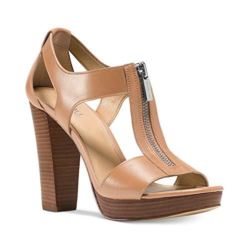 Michael Michael Kors Berkley T-Strap Platform Dress Sandals Cashew