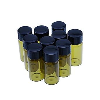 10 ml Ámbar botellas de vidrio para aceites esenciales, productos químicos de laboratorio Química,