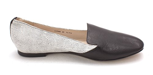 Cole Haan Womens Gentlemens Slipper Closed Toe Slide Flats Black/White Vnn6F7D9F