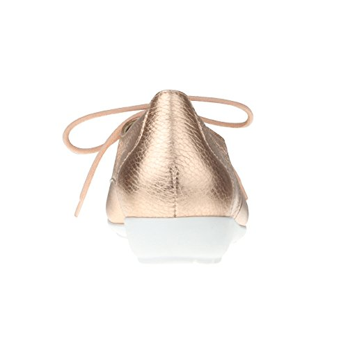 Optik Damen für rosegold aus Metallic H modisch Einlagen Weite Hirschleder tessamino in Schnürer x6YOwUd6vq