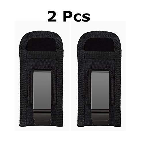 PYu Molle Single Pistol Mag Pouch Tactical Concealed Clip Carry Pouch 9MM Gun Carrier Magazines Holder (Black) (Black ()