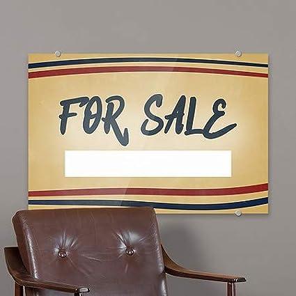 CGSignLab Nostalgia Stripes Premium Brushed Aluminum Sign 27x18 for Sale 5-Pack