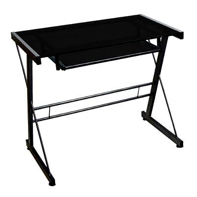 WE Furniture Glass Metal Computer Desk from Walker Edison