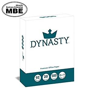 Dynasty Copy Paper, White Paper, 8.5 x 11, Letter, 92 Bright, 1 Ream - Diversity Product, MBE Certified (200550R)