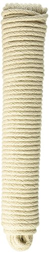 Wa Clothesline (CORDAGE SOURCE 19S Solid Braid Cotton Sash Cord, 7/32-Inch by 100-Feet)