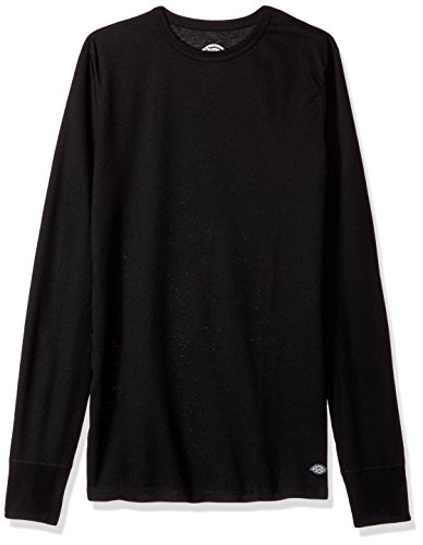 Dickies Men's Technical Wool Thermal Top, Black, X-Large by Dickies