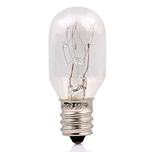 12 Pack-15 Watt Salt Lamp Bulbs Incandescent E12 Socket Candelebra Original Replacement Light ...