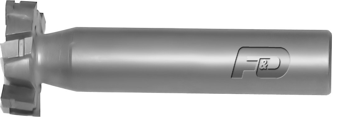 F/&D Tool Company 35218 Woodruff Keyseat Cutter 1008 American Standard 5//16 Width of Face 1 Diameter Shank Type Straight Tooth Carbide Tipped 2 5//16 Overall Length